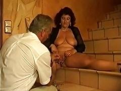 heavily pierced mature vagina gets fist fucked