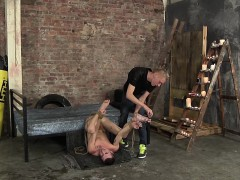 Two perverted freaks have kinky sex in one creepy dungeon