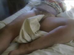 Exposing her Hairy Vagina while she Sleeps