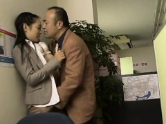Sexy slutty pair gets down to business in the workplace