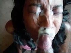 Tir de sperme, Faciale