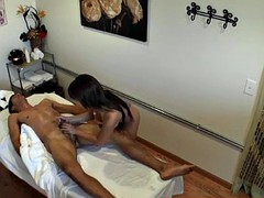 Asian masseuse jerks client on hidden spycam