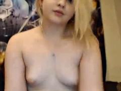 blonde slut showing huge ass