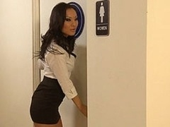 OFFICE Cutie pie ASA AKIRA WRAPS HER TIGHT Vag AROUND A Large Fuck tool
