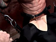 Brunette Gets Tied And Abused
