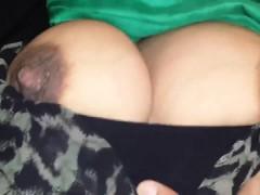 Huge breasts were groped by hd