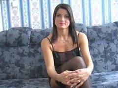 Charming Brunette In Stockings