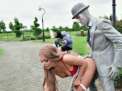 Tetas grandes, Rubia, Vestidas, Sexo duro, Al aire libre, Público, Ruso