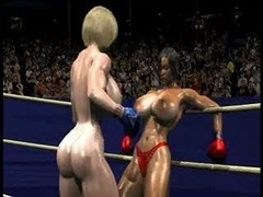 FPZ3D S vs G 3D Toon Fistfight Catfight Love bubbles One-Sided