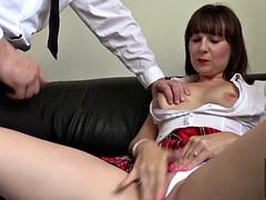 dirty slut succulent cherri shows her horny wet cunt