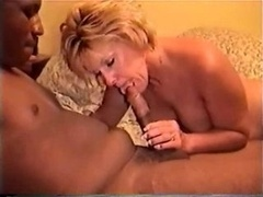 Young-looking Black Stud Gets down and dirty More experienced Blonde Wife