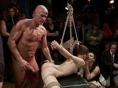 Bondage domination sadisme masochisme, Souple, Groupe, Humiliation, Public, Punition, Esclave, Attachée