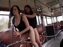 A duo French Chicks Fucked In A Bus