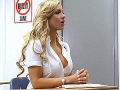 Blonde, Mixte, Élève, Se déshabiller, Étudiant, Professeur, Adolescente, Uniforme