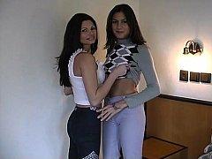 Lesbian 18-19 y.o. rookie sex
