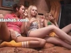 Girly fantasies in special pornography bus