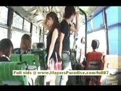 Mihiro oriental adult model enjoys a having an intercourse on the bus