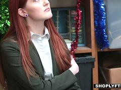 Shoplyfter - RedHeaded Cutie Pays Price For Stealing