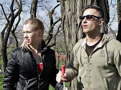 Bitches Abroad - Czech blondie travels abroad for a hot fuck