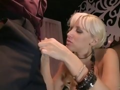 busty blonde's nailed by a big cock