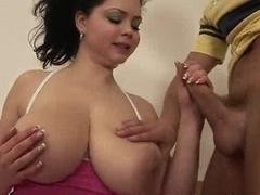 young vulgar dark haired bombshell - sweet big natural boobs
