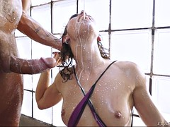 big ass latina julia roca has a messy and hardcore sex session in bathroom