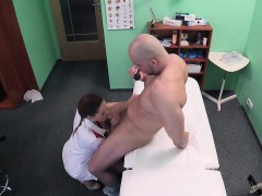 Hot brunette doctor getting nailed hard in the fake hospital