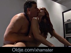 Step dad fucking step daughter hairy pussy for breakfast