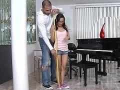 Little teenage Tia in action