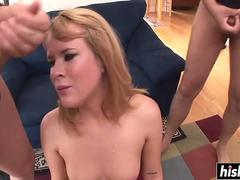 Doggy style banging after blow bang