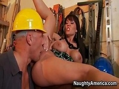Claire Women Gets Hammered By Strong Builder
