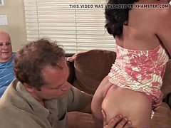 Hairy asian housewife gets fucked in cuckold