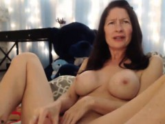 Beauty Mature Plays With Her Pussy And Squirts Hard