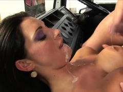 Desirable picked up babe gets fucked hard