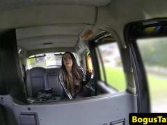 www.sexycams69.net - Flashing facialized teen amateur in fake taxi