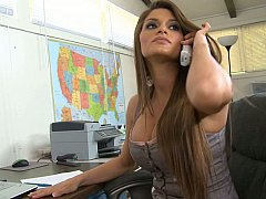 Incroyable, Américain, Brunette brune, Hard, Mère que j'aimerais baiser, Bureau, Secrétaire, Grande