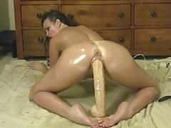 Hot Brunette with Huge Dong Ride