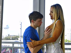 busty milf tegan james seducing her son's friend