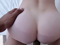 white chick with nice butt alaina dawson fucking a dick in pov