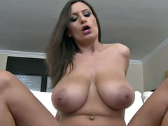 HUGE MASSIVE NATURAL BOUNCING BOOBS RIDING TITS