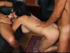 Hot orgy with aroused broads with huge jugs and also many lucky fellas