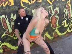 Street Hooker get fucked by Cops