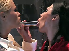 vivian and sonya played with a dildo