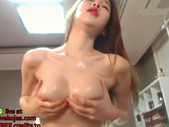 Amateur, Asiatique, Japonaise, Coréenne, Masturbation, Collant, Solo