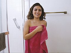 Shower BJ from a stepsis
