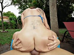 Big ass Charley Hart gets drilled by the pool
