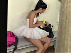 peeking on sweet russian ballerina adela masturbating in a locker room
