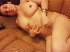 Desi Wife Naked on Sofa