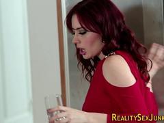 Mamada, Corridas, Tacones, Cocina, Estrella porno, Pelirrojo