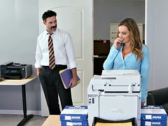New big tits employee gets a good office initiation fuck